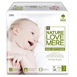Подгузники детские Nature Love Mere, серия MAGIC SOFT FIT, размер M, 24 шт [6-9 kg]